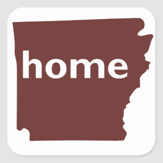 Arkansas Home Square Sticker