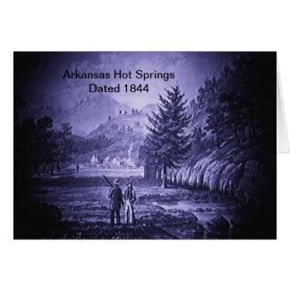 Arkansas Hot Springs Vintage 1844 Card