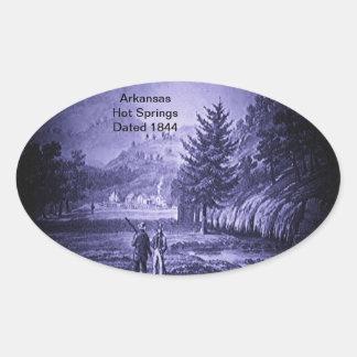 Arkansas Hot Springs Vintage 1844 Oval Sticker
