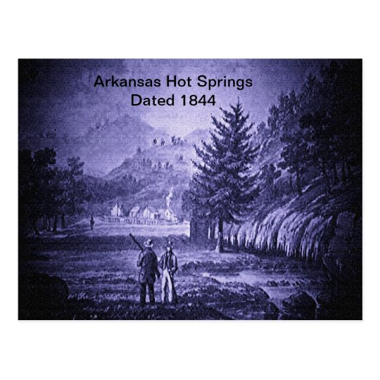 Arkansas Hot Springs Vintage 1844 Postcard