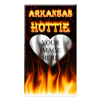 arkansas hottie fire and flames business cards