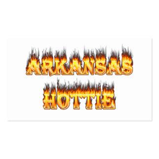 Arkansas Hottie Fire and Flames Business Card