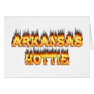 Arkansas Hottie Fire and Flames Card