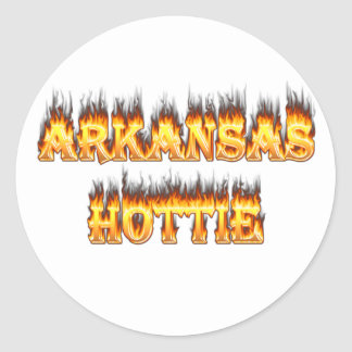 Arkansas Hottie Fire and Flames Stickers