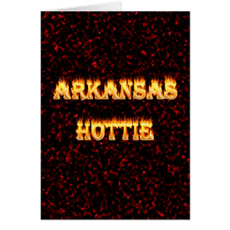 Arkansas hottie in fire and flames card