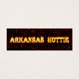 Arkansas hottie in fire and flames mini business card