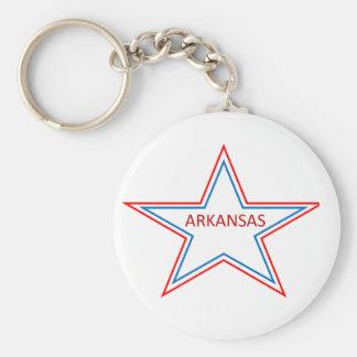 Arkansas in a star. basic round button keychain