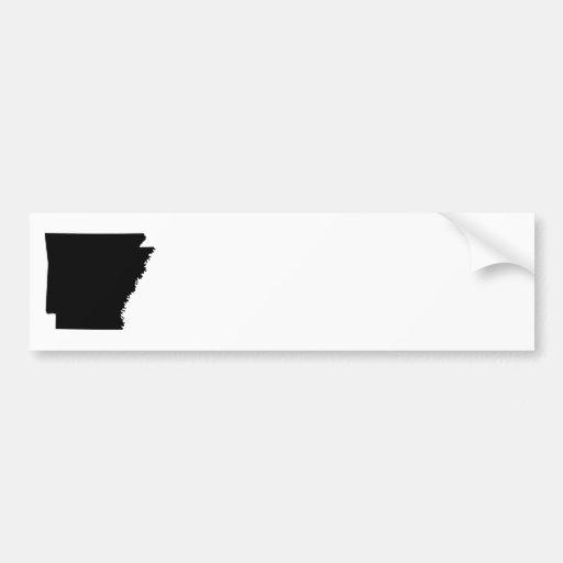 Arkansas in Black Bumper Stickers