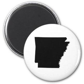 Arkansas in Black Fridge Magnet