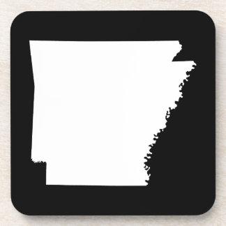 Arkansas in White Drink Coasters