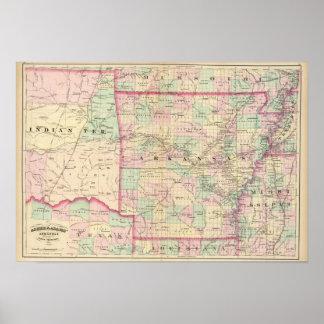 Arkansas, Indian Territory Print