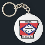 "Arkansas Keychain<br><div class=""desc"">Add Arkansas to your collection of States of America.</div>"