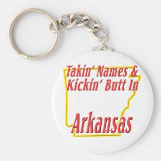 Arkansas - Kickin' Butt Basic Round Button Keychain