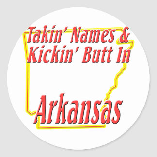 Arkansas - Kickin' Butt Classic Round Sticker