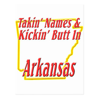 Arkansas - Kickin' Butt Postcard