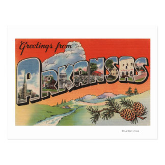 Arkansas (Landscape Scene) - Large Letter Postcard
