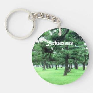 Arkansas Landscape Single-Sided Round Acrylic Keychain