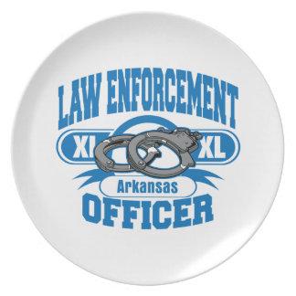 Arkansas Law Enforcement Officer Handcuffs Plate