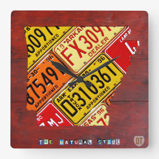 Arkansas License Plate Map Clock