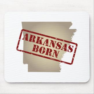 Arkansas llevado - sello en mapa alfombrillas de ratones