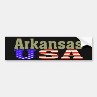 ¡Arkansas los E.E.U.U.! Pegatina para el parachoqu Pegatina Para Auto
