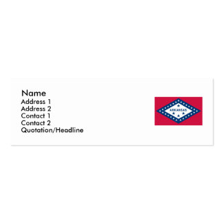 Arkansas Map and State Flag Double-Sided Mini Business Cards (Pack Of 20)