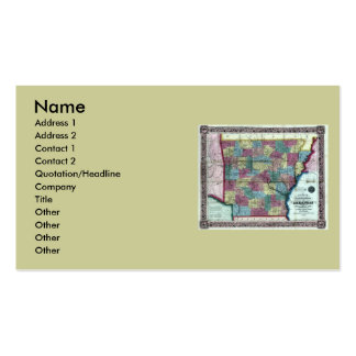 Arkansas Map and State Flag Double-Sided Standard Business Cards (Pack Of 100)