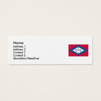 Arkansas Map and State Flag Mini Business Card