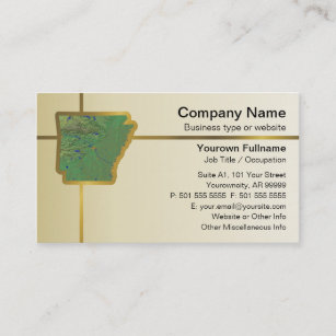 Map business cards zazzle arkansas map business card colourmoves