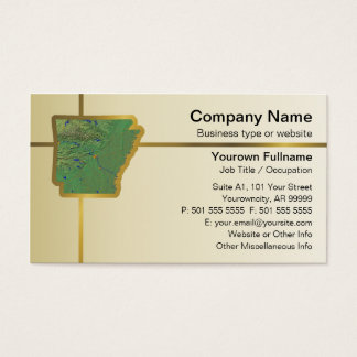 Arkansas Map Business Card
