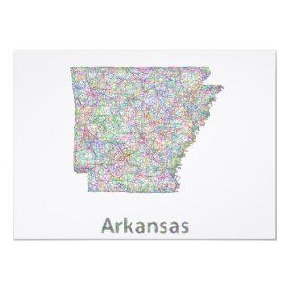 Arkansas map card