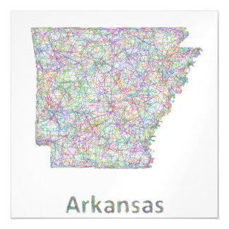 Arkansas map magnetic card