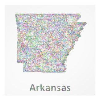 Arkansas map photo print