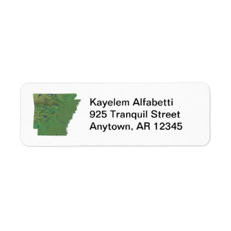 Arkansas Map Return Address Label