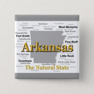 Arkansas Map Silhouette Button