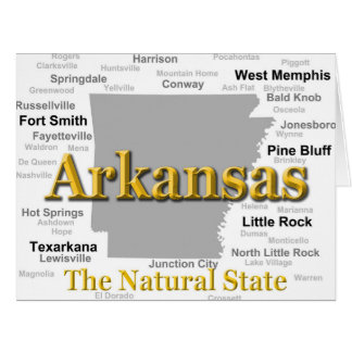 Arkansas Map Silhouette Card