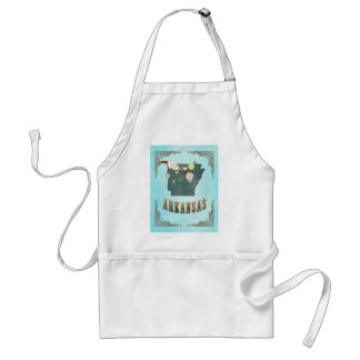 Arkansas Map With Lovely Birds Adult Apron