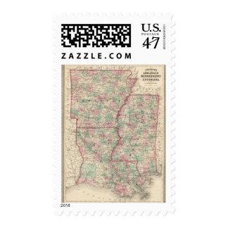 Arkansas, Mississippi, and Louisiana Postage