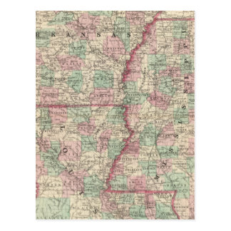 Arkansas, Mississippi, and Louisiana Postcard