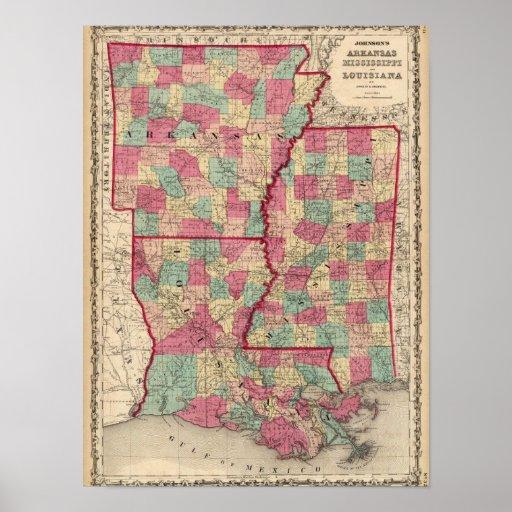 Arkansas, Mississippi, y Luisiana Póster