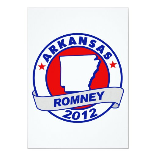 Arkansas Mitt Romney Personalized Announcements