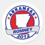 Arkansas Mitt Romney Round Sticker