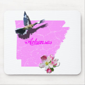 Arkansas Mockingbird & Apple Blossom Mouse Pad