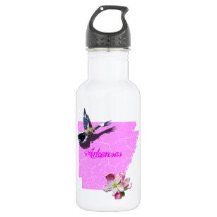 Arkansas Mockingbird Apple Blossom Stainless Steel Water Bottle