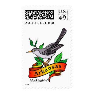 arkansas mockingbird postage stamp