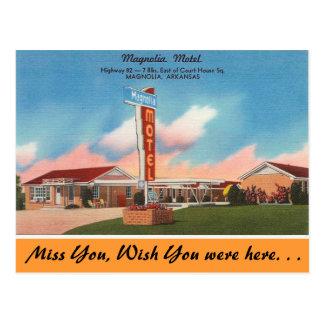 Arkansas, motel de la magnolia postal