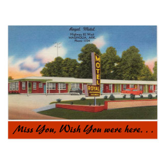 Arkansas, motel real tarjeta postal