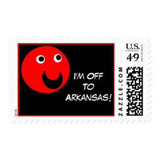 Arkansas Move Or Vacation Postage Stamp