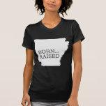 Arkansas nacido y aumentado camisetas