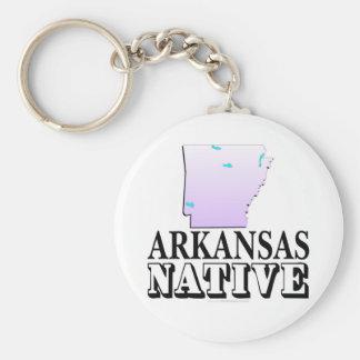 Arkansas Native Basic Round Button Keychain